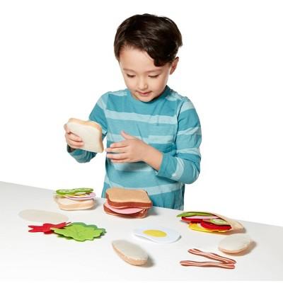 Melissa & Doug Felt Food Sandwich Play Food Set (33pc)