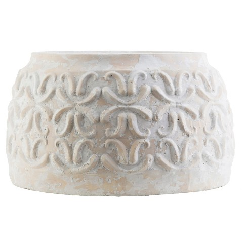 Hati Outdoor Ceramic Pot - Ivory - Surya - image 1 of 1