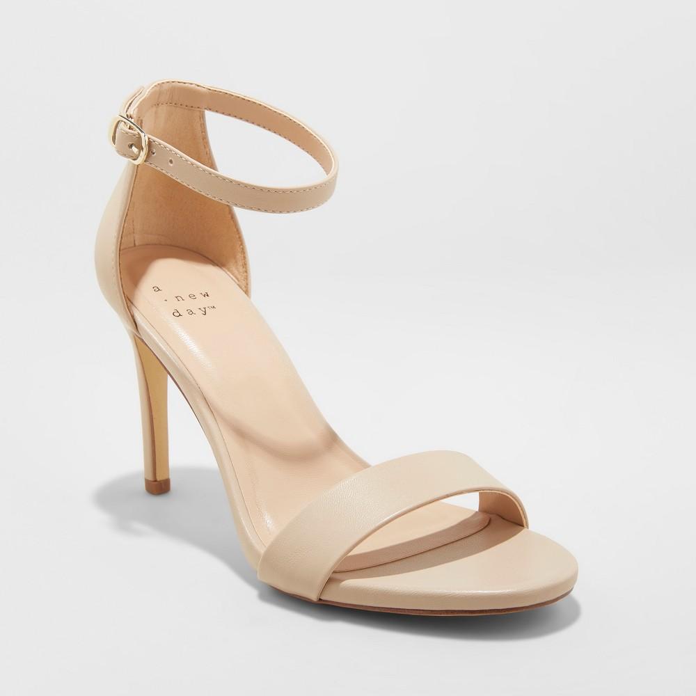 Women's Myla Wide Width Stiletto Heeled Pumps - A New Day Tan 12W, Size: 12 Wide