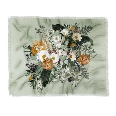 Iveta Abolina Paloma Midday Woven Throw Blanket Green - Deny Designs