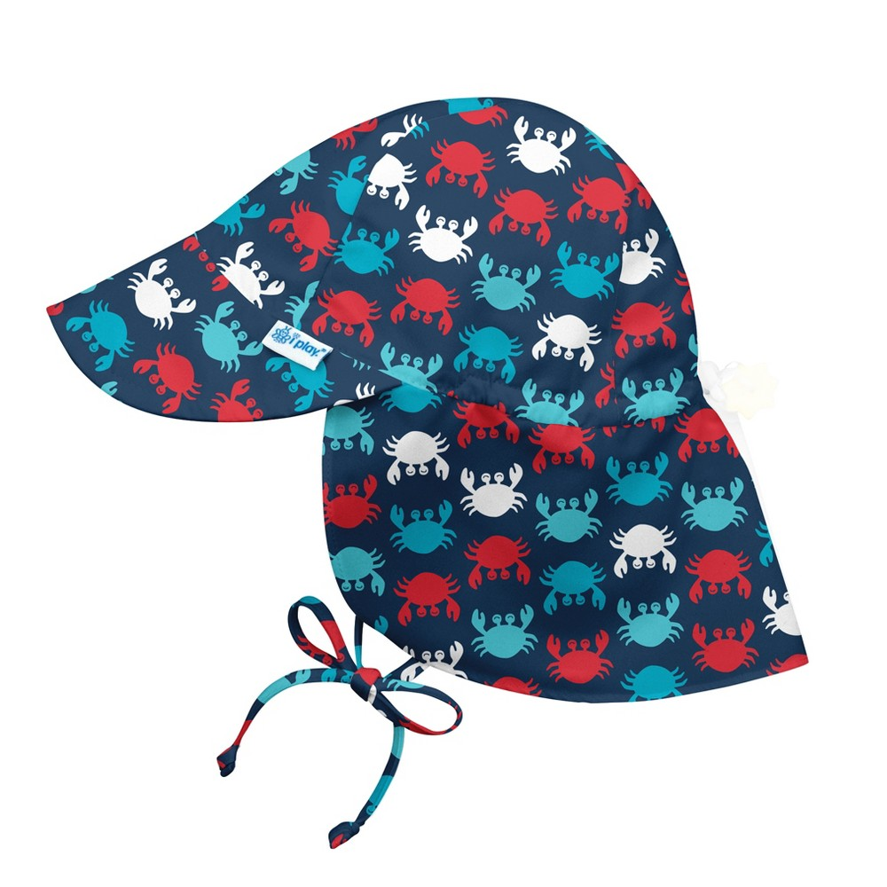 i play Baby Boys' Crab Floppy Hat - Navy M/L, Blue