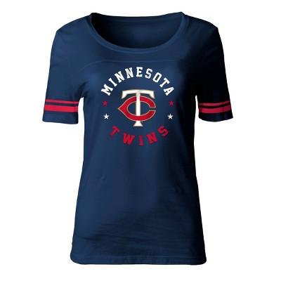MLB Minnesota Twins Women's Poly Rayon Fashion T-Shirt