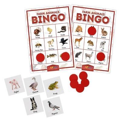 Kaplan Early Learning Company Farm Animals Bingo