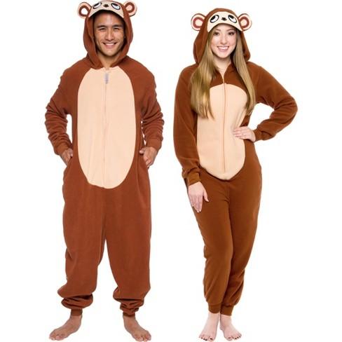 Funziez! Monkey Slim Fit Adult Unisex Novelty Union Suit - image 1 of 4