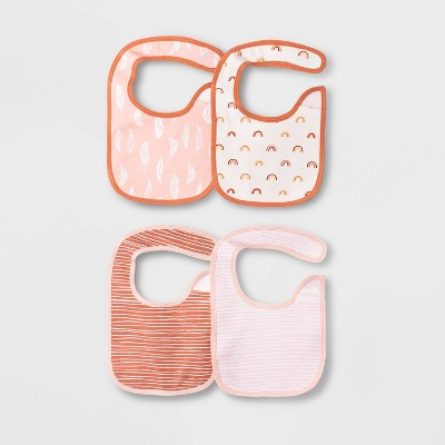 Baby Girls' 4pk Earth & Sky Bib - Cloud Island™ Pink