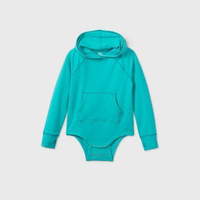 Girls' Adaptive Hooded Adjustable Bodysuit - Cat & Jack™ Green
