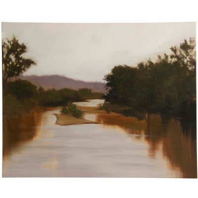 50  Muddy Waters River Scape Stretched Canvas Decorative Wall Art - StyleCraft