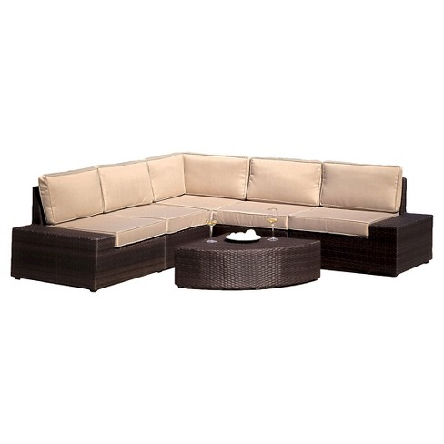 Santa Cruz 6pc Wicker Patio Sofa Set Christopher Knight Home