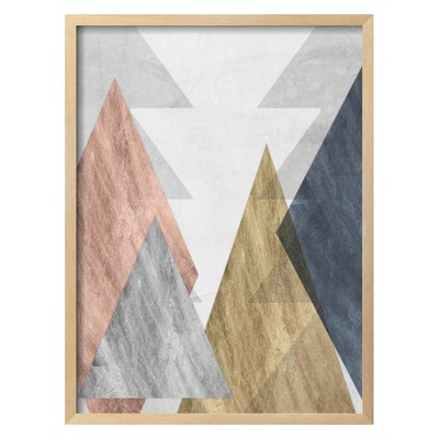 Peaks II By Jennifer Goldberger Framed Wall Art Poster Print 21 x28  - Art.com