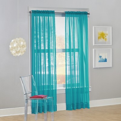 Calypso Voile Rod Pocket Sheer Curtain Panel - No. 918