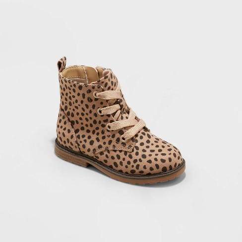 Toddler Girls' Giovanna Zipper Slip-On Lace-Up Combat Boots - Cat & Jack™ - image 1 of 4