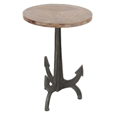 Ordinaire Metal And Wood Anchor Table Brown/Black   Olivia U0026 May : Target