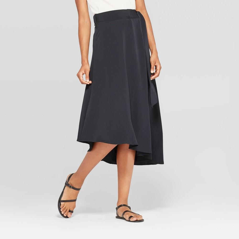 Image of Women's Mid-Rise Wrap Midi Skirt - Prologue Black L, Women's, Size: Large