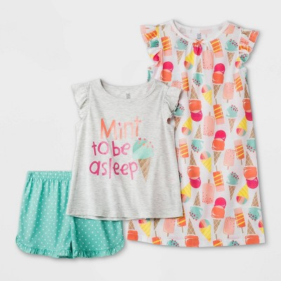 Girls' 3pc Ice Cream Pajama Set - Just One You® made by carter's Pink