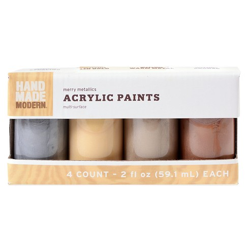 Hand Made Modern 4Pk Paint Set Metallics - image 1 of 1