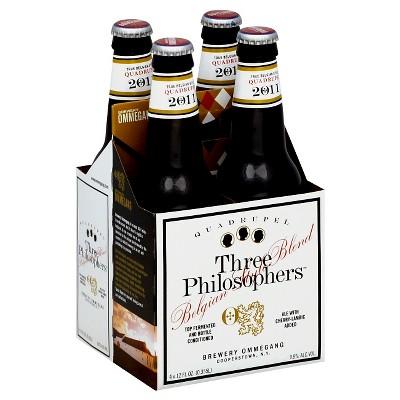 Ommegang Three Philosophers Belgian-Style Quadrupel Ale Beer - 4pk/12 fl oz Bottles