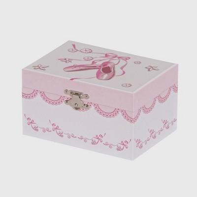 Mele & Co. Clarice Girls' Musical Ballerina Jewelry Box-White