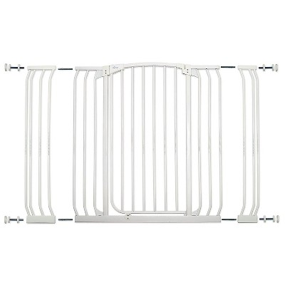 Dreambaby L792W Chelsea 38 to 53 Inch Extra Tall & Wide Baby & Pet Auto-Close Safety Security Gate with Stay Open Feature & 2 Extension Panels, White