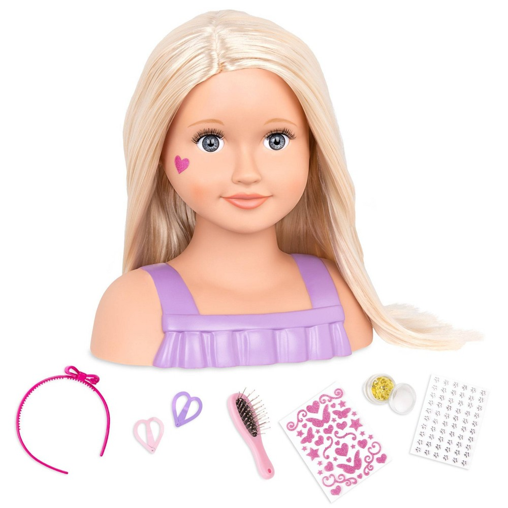 Our Generation Hair Play Styling Head Doll With Accessories Trista