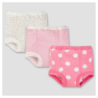 Toddler Girls' 3pk Print Training Pants - Brown Leopard Print 2T - Gerber®