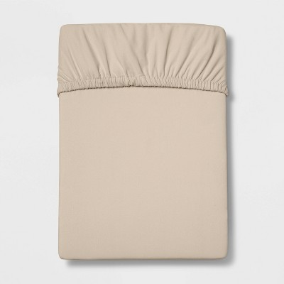 Full 300 Thread Count Ultra Soft Fitted Sheet Brown Linen - Threshold™