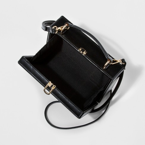 c062420e9c Hinge Box Crossbody Bag - A New Day™ Black : Target