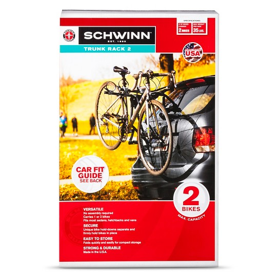 Schwinn 2-Bike Trunk Rack image number null