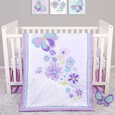 Sammy and Lou Butterfly Meadow Crib Bedding Set - 4pc