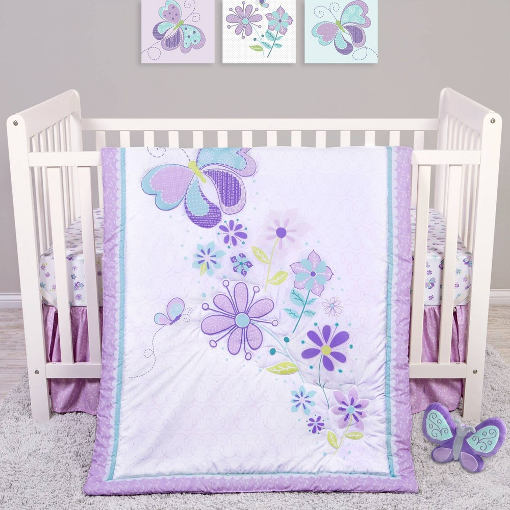 Image of Sammy and Lou Butterfly Meadow Crib Bedding Set - 4pc
