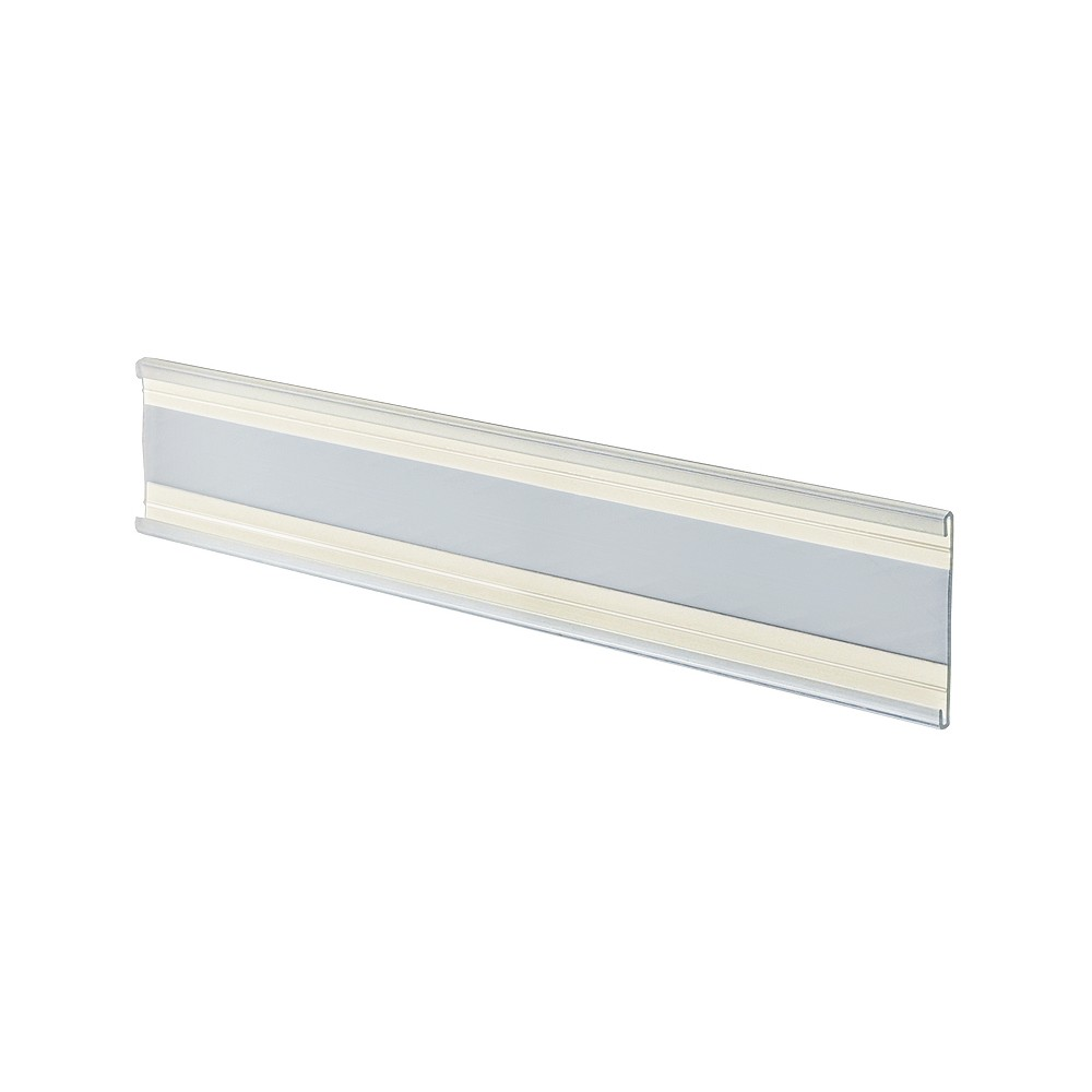 Azar 8.5 x 2 Adhesive-back Nameplate 10ct, Clear