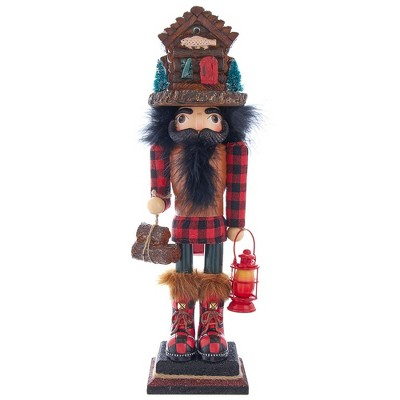"Kurt Adler 18"" Hollywood Lodge Nutcracker with Cabin Hat"