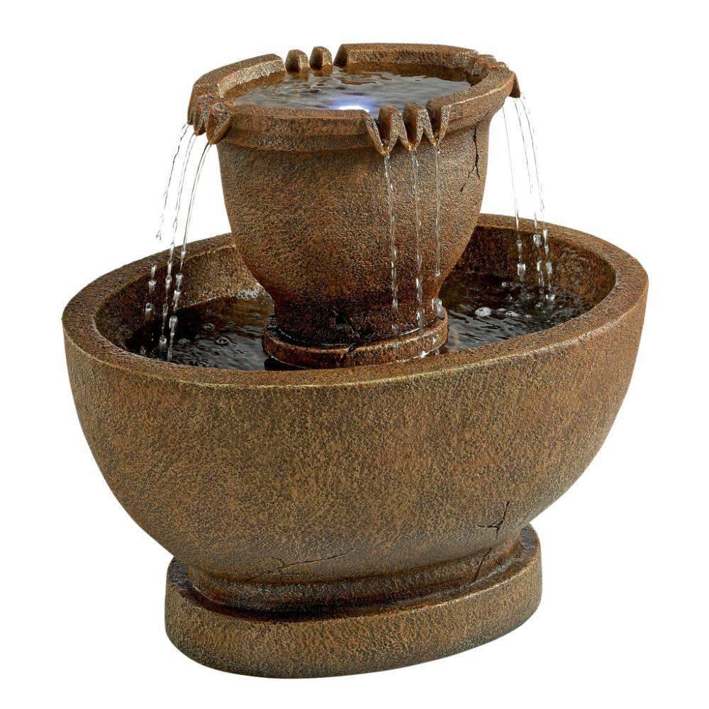 Image of Richardson Oval Urns Cascading Garden Fountain - Acorn Hollow