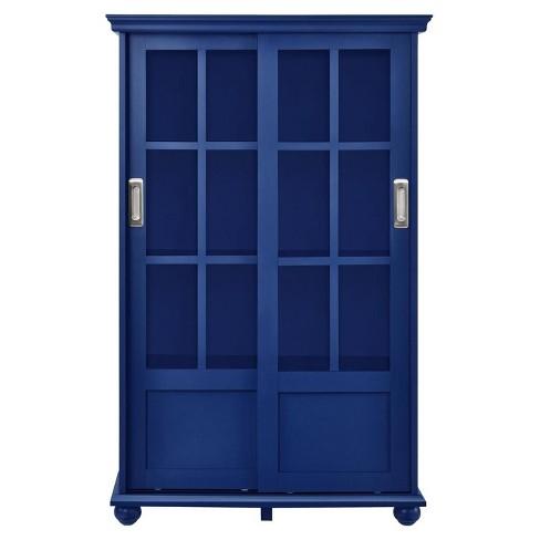 Capewood Bookcase With Sliding Gl