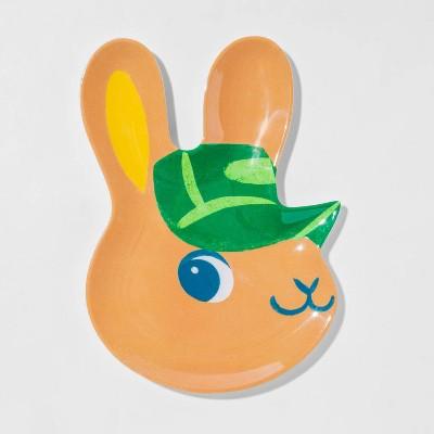 "11"" Melamine Boy Bunny Plate - Spritz™"