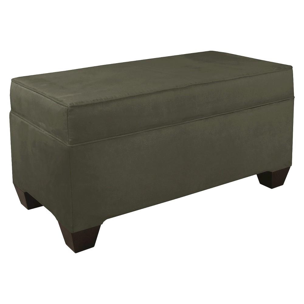 Skyline Custom Upholstered Box Seam Bench - Skyline Furniture, Velvet Pewter
