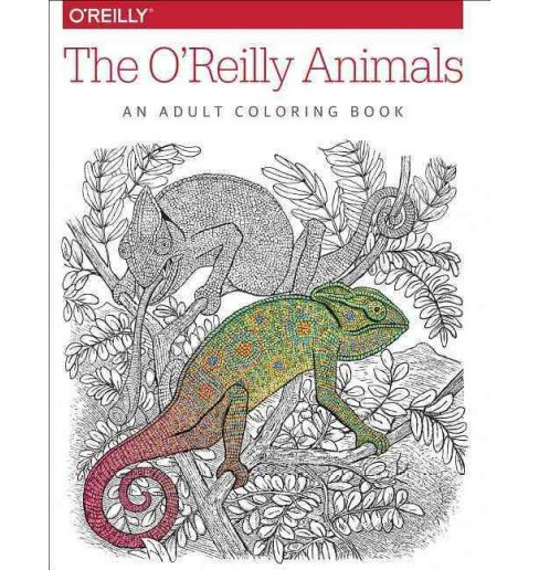 O'reilly Animals : An Adult Coloring Book (Paperback) - image 1 of 1