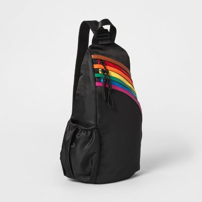 Pride Gender Inclusive Adult Sling Pack - Black