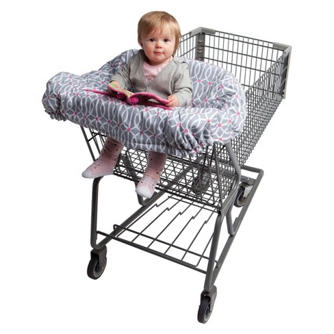 Boppy Park Gate Shopping Cart And High Chair Cover Pink