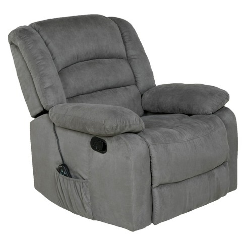 Awe Inspiring Relaxzen Rocker Recliner With Heat Massage Usb Microfiber Squirreltailoven Fun Painted Chair Ideas Images Squirreltailovenorg