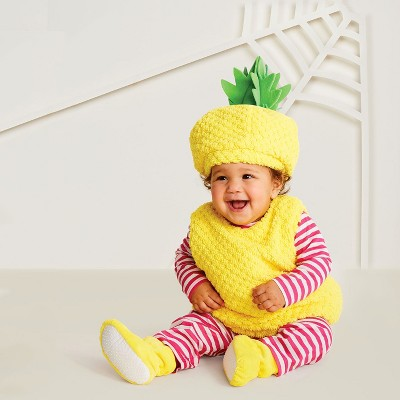 Baby Plush Pineapple Vest Halloween Costume 0-6M - Hyde and Eek! Boutique™