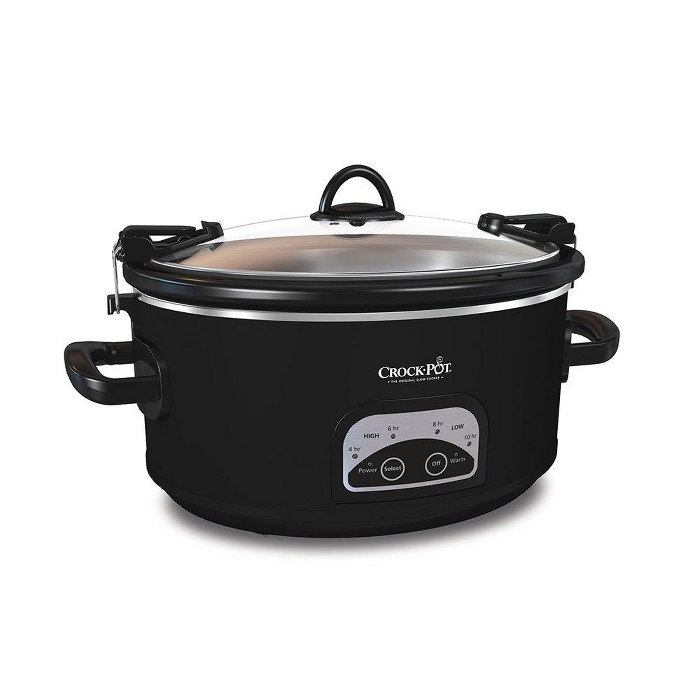 Crock-Pot 6qt Programmable Cook & Carry Slow Cooker Black SCCPVLF605-B - image 1 of 4