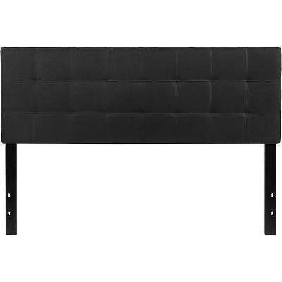 Queen Quilted Tufted Upholstered Headboard Black - Riverstone Furniture