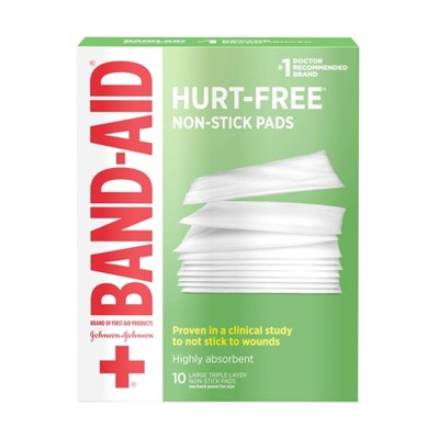 Band-Aid Large Non Stick Pads - 10ct