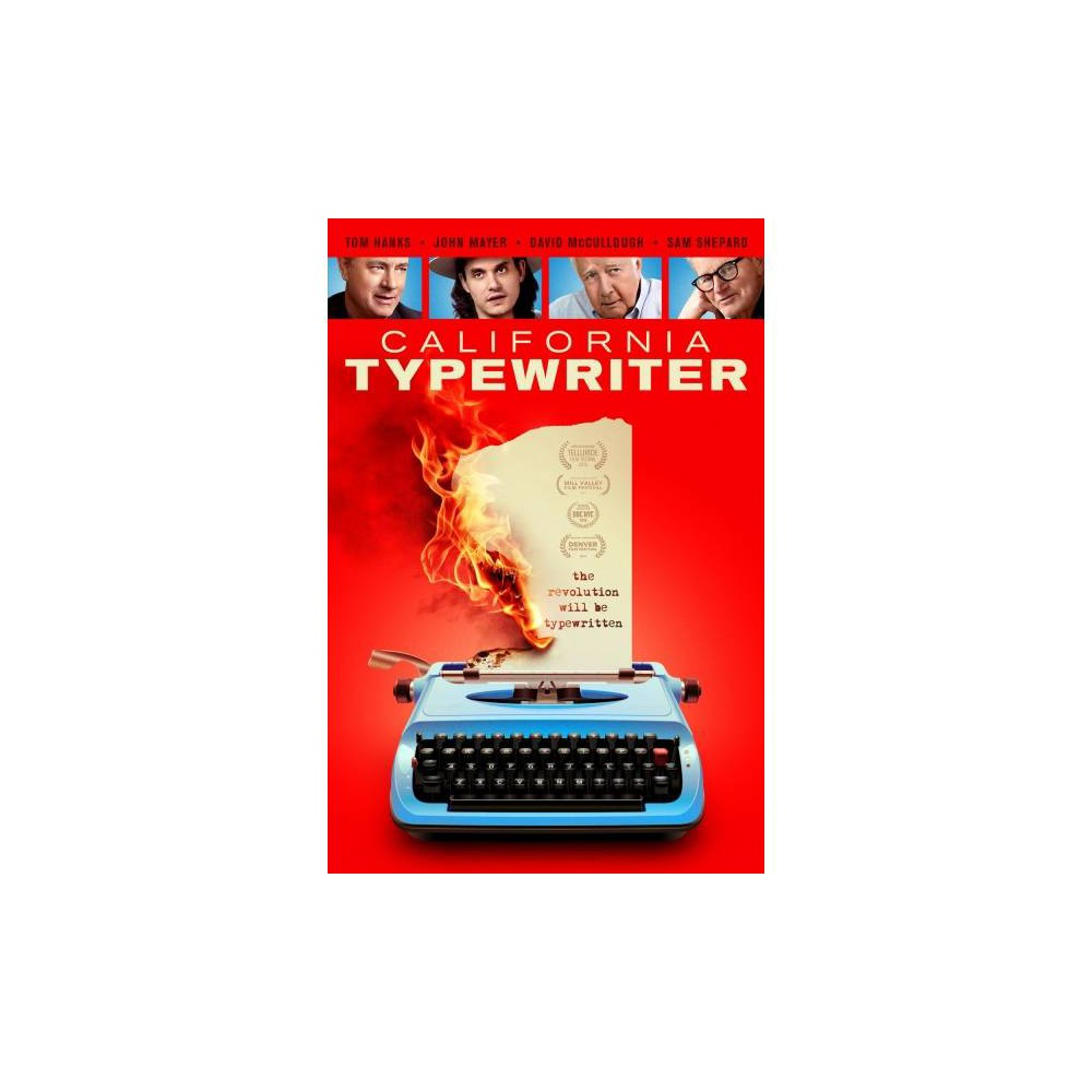 California Typewriter (Dvd) This documentary examines the old-fashioned appeal of typewriters via a look at a struggling repair shop in California that's dedicated to servicing the machines. The film also includes interviews with typewriter enthusiasts such as actor Tom Hanks, musician John Mayer, historian David McCullough, and actor/playwright Sam Shepard, who reflect on their value in an age dominated by digital technology. Directed by Doug Nichol.