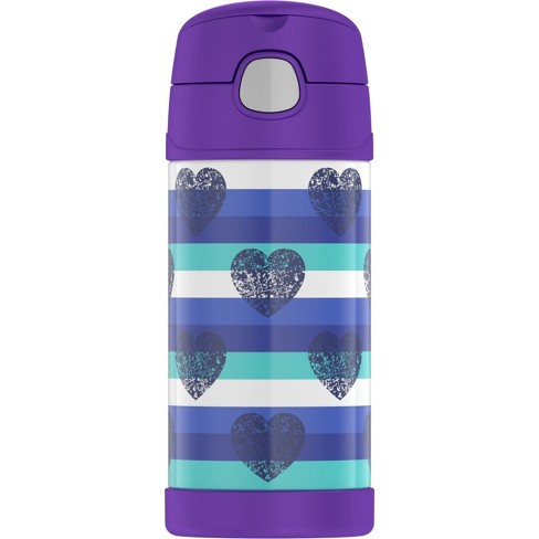Thermos Crckt 12oz FUNtainer Water Bottle - Blue Hearts - image 1 of 4