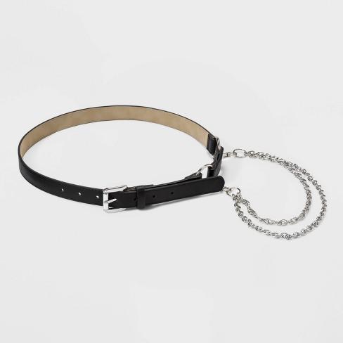 Women's Chain Belt- Wild Fable™ Black - image 1 of 2