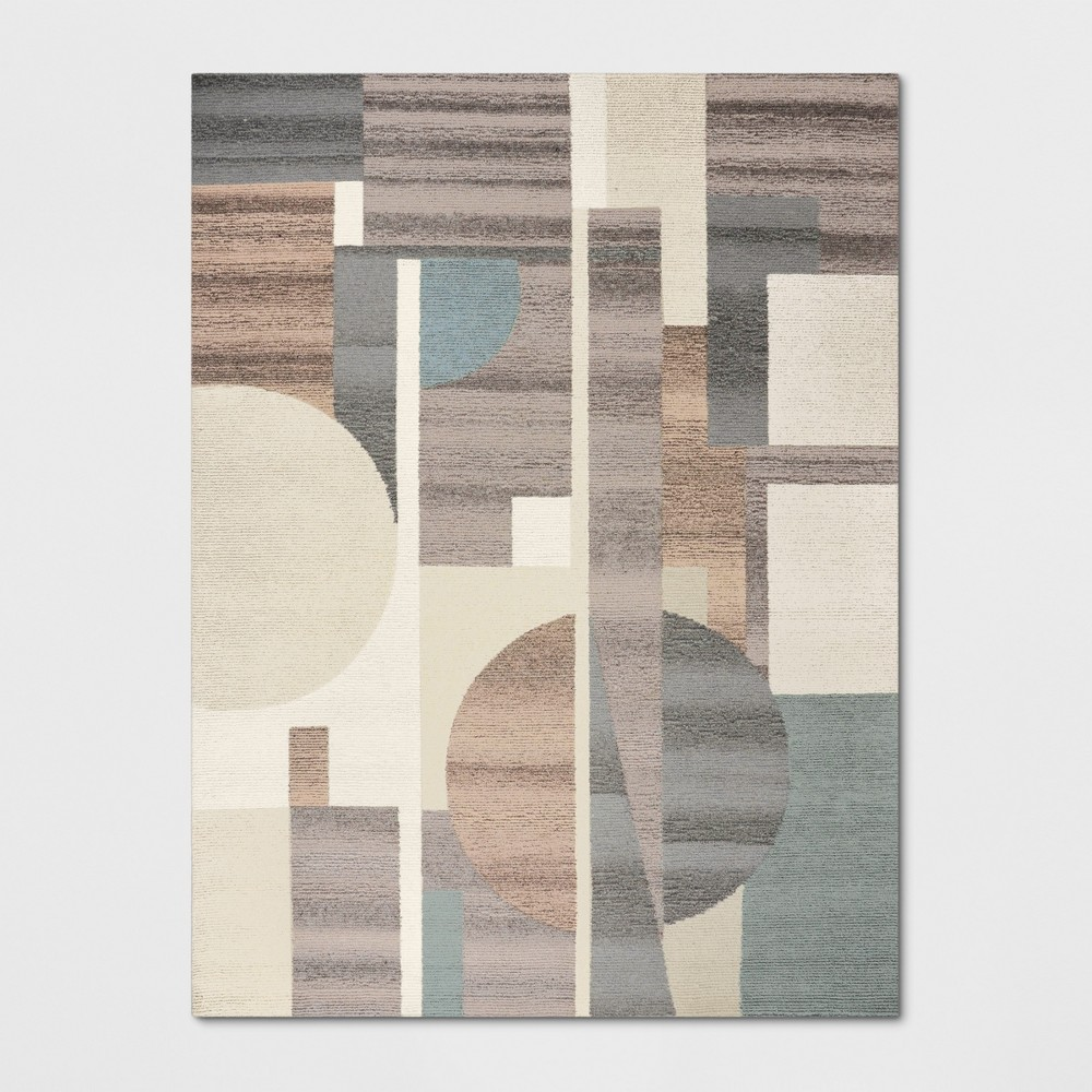 9'X12' Tufted Color Block Area Rug Blue - Project 62