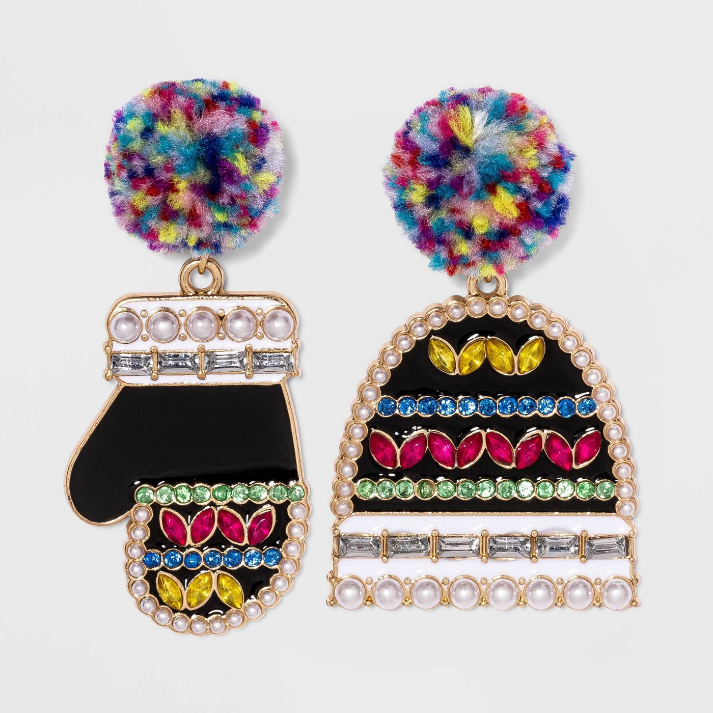 SUGARFIX by BaubleBar Hat and Mitt Drop Earrings - image 1 of 5