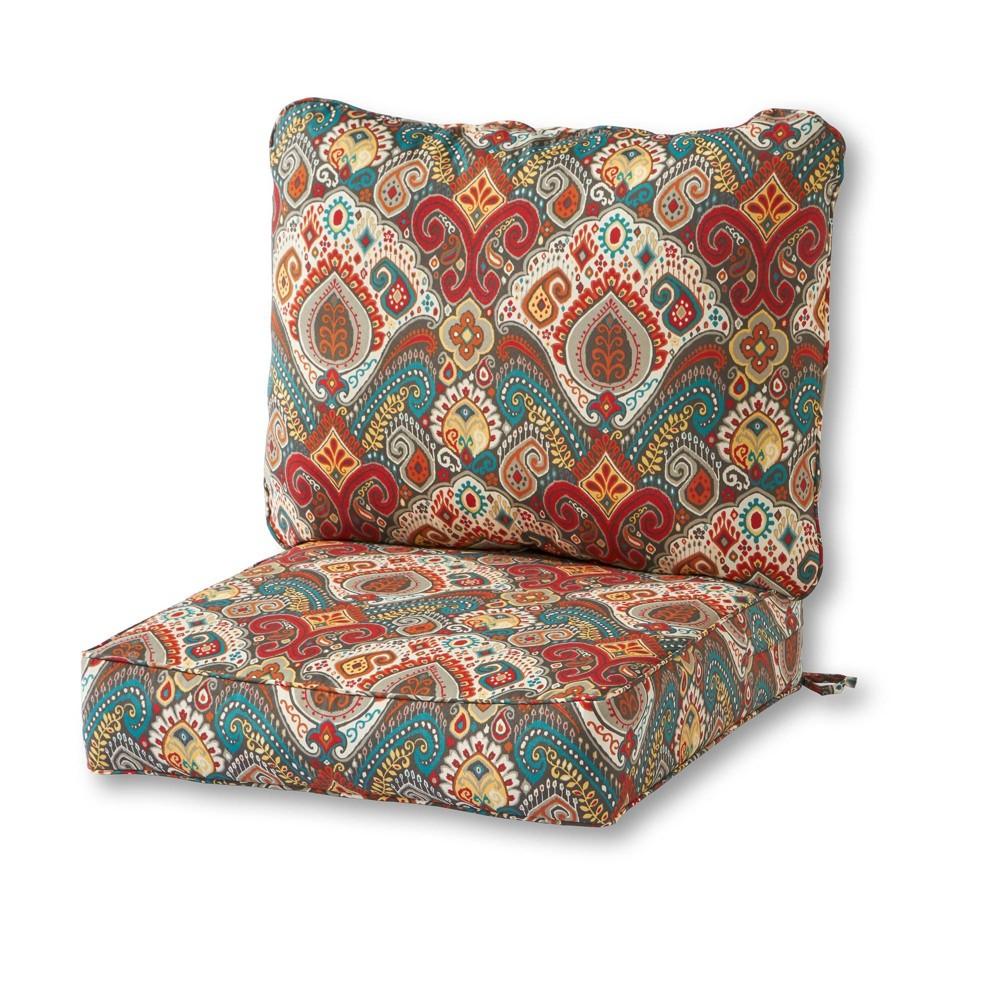 Image of 2pc Outdoor Deep Seat Cushion Set Asbury Park - Kensington Garden