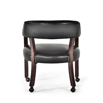 Tournament Captains Chair With Casters Black   Steve Silver : Target